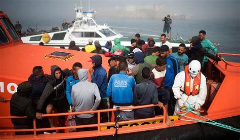 ski boat in spanish spanish coastguard rescues 600 migrants from morocco in