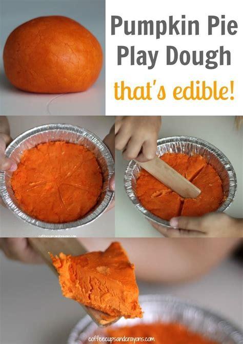 edible pumpkin pie play dough kinderland collaborative diy crafts  kids crafts  kids