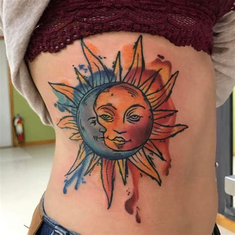 watercolor tattoo generator vibrant watercolors stunning sun and moon ideas