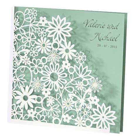 Einladungskarten Hochzeit Mint by Hochzeitseinladung Quot Dalia Quot In Perlmutt Mint Weddix De