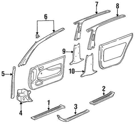 1995 Toyota Camry Parts Cowl Trim Left For 1995 Toyota Camry 62102 33020 S4