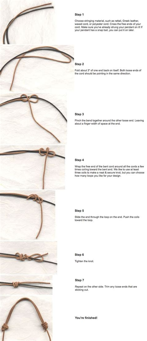 How To Make Knot - 25 best ideas about sliding knot on
