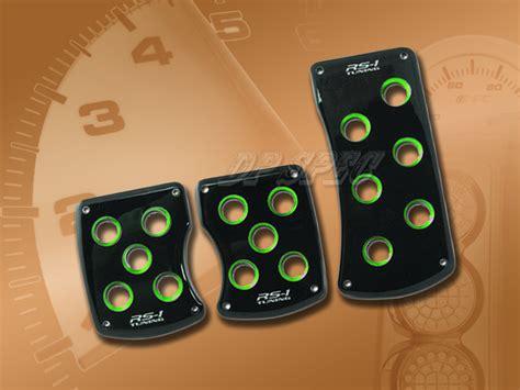 Pedal Pad Manual Ysa Racing 2 3pcs black green manual brake gas clutch racing pedal pads