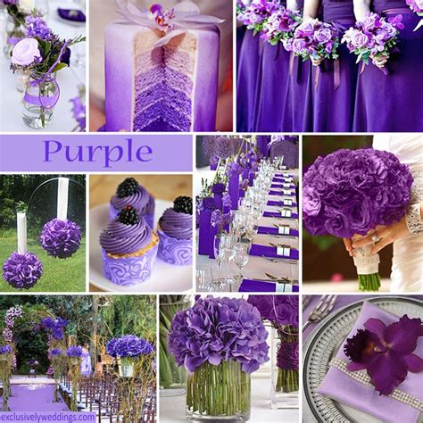 what goes with purple purple wedding color combination options purple