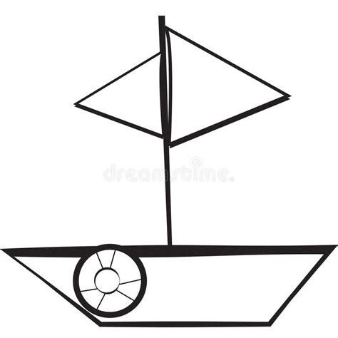 dessin d un bateau à voile bateau 224 voiles illustration stock illustration du