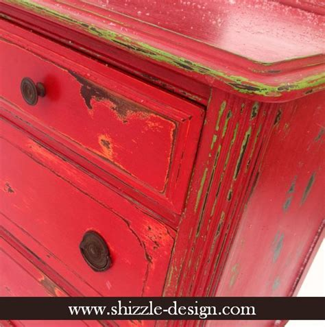 25  best ideas about Red distressed furniture on Pinterest   Western decor, Chalk paint