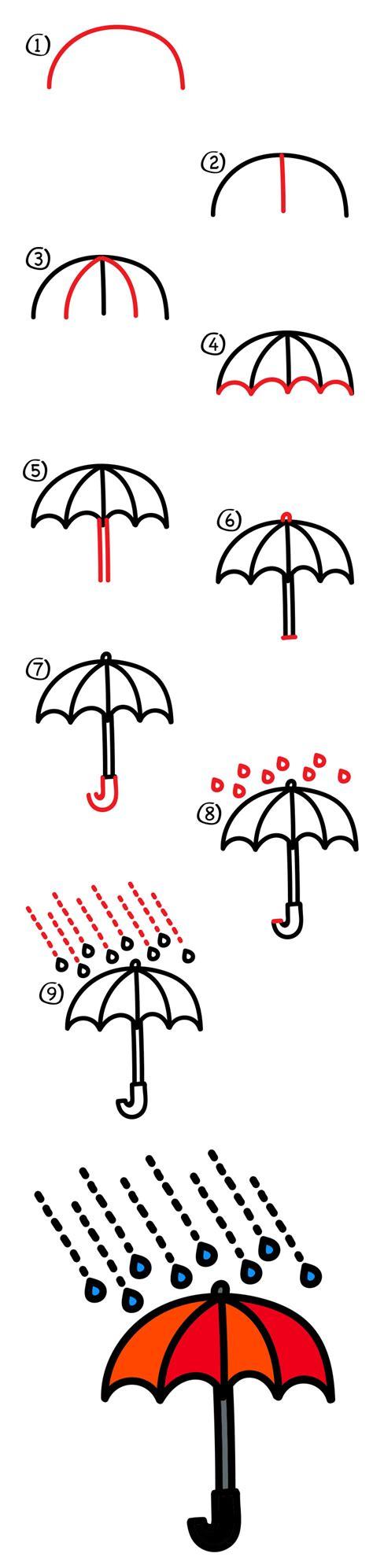 draw  umbrella art  kids hub