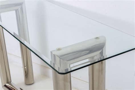chrome glass console chrome and glass console dealing with glass