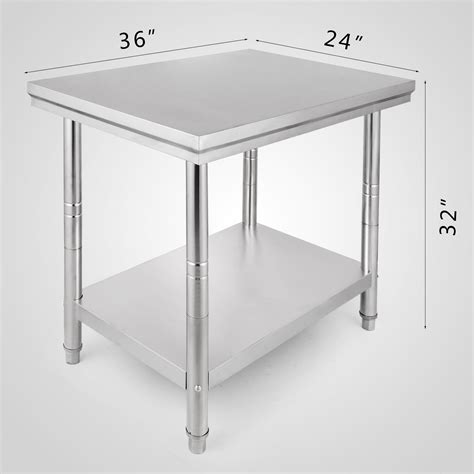 Kitchen Work Table Stainless 1500x750 Mm Ss 201 610mmx915mm stainless steel work bench food prep kitchen table top catering ebay