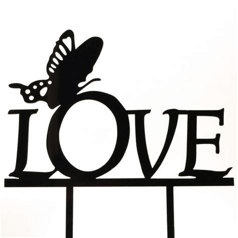 love butterfly acrylic wedding birthday day cake topper