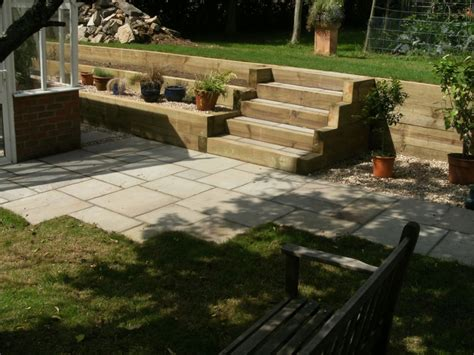 Landscaping Sleepers Garden Design Portfolio Sleepers Steps New