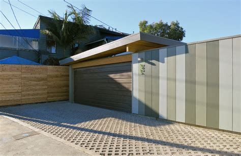 driveway garage modern garage and shed los angeles