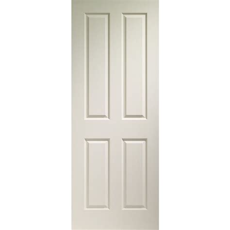 Primed Interior Doors Grained Four Panel Primed Interior Door