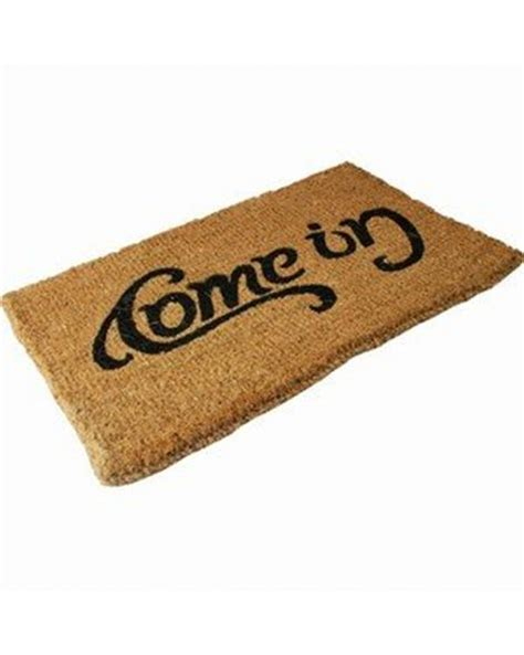 Come In Go Away Door Mat by Reversible Come In Go Away Doormat Novelty Doormat