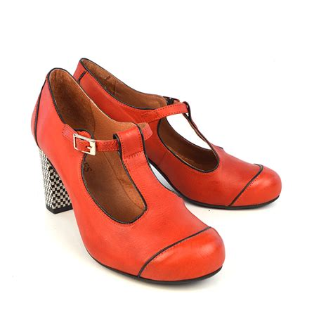 t shoes the dusty in coral retro t bar shoe by modshoes