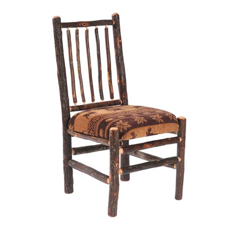hickory chair bench cottage hickory diner with upholstered seat rustic furniture mall by timber creek