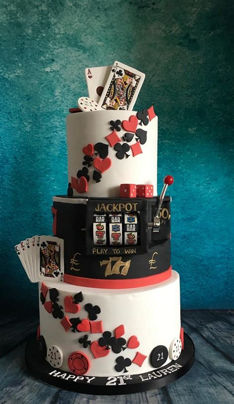casino poker theme st cake  slot machine cake  cakesdecor