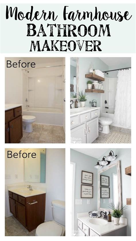 One Day Bathroom Makeover by Modern Farmhouse Bathroom Makeover Bless Er House So