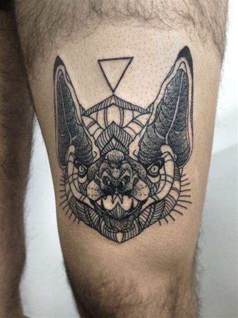 geometric tattoo book black ink geometric bat head tattoo tattoos book 65