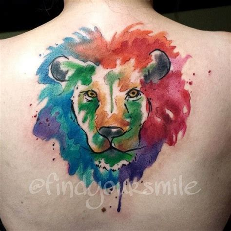 watercolor lion tattoo water color for the leo within quot my is my