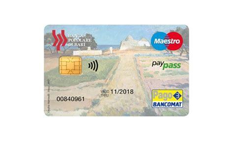 bancomat banco popolare carta di debito internazionale 232 la carta innovativa per