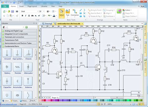 free circuit diagram software electrical drawing software