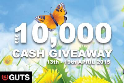 Casino Cash Giveaway - win your share of 163 10 000 in the cash o tons spring guts casino giveaway
