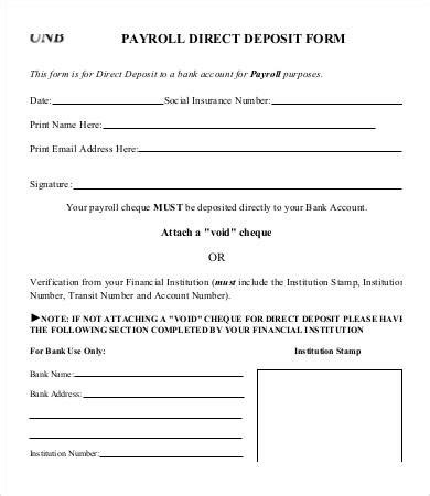 direct deposit form template doliquid