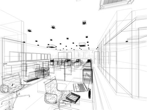 sketch design of interior office stock illustration illustration of abstract structure 38179589