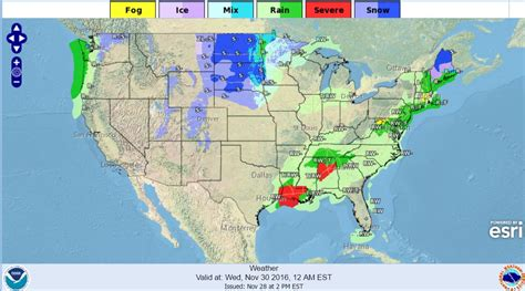 us weather map november severe thunderstorms tornadoes to hit the south us