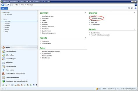 workflow history the knowledge workflow history form in ax 2012