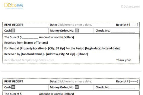 apartment rental receipt template rent receipt template 3 per page dotxes