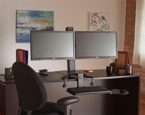 standing desk dual monitor dual monitor standing desk dual monitor adjustable