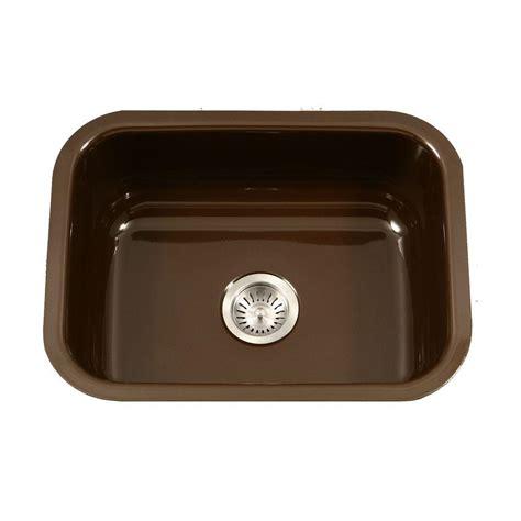 enamel kitchen sink houzer porcela series undermount porcelain enamel steel 23