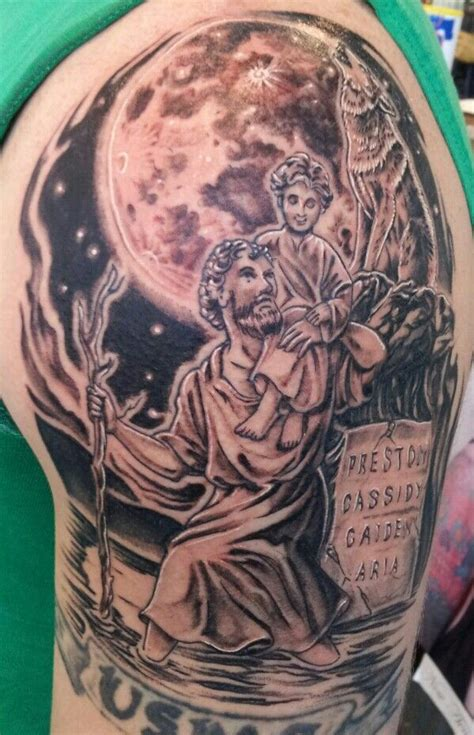 saint christopher tattoo st christopher tattoos that i ve done