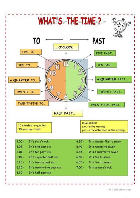 376 free esl time worksheets