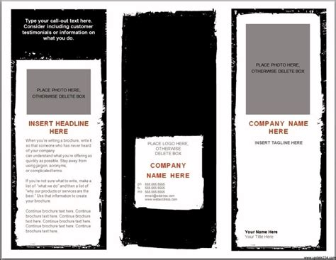 blank brochure template for word blank brochure templates for microsoft word template