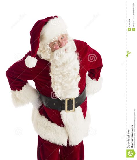 furious santa claus standing with hands on hips stock