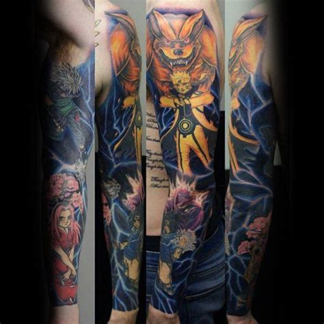 anime tattoo sleeve designs 60 anime tattoos for cool design ideas