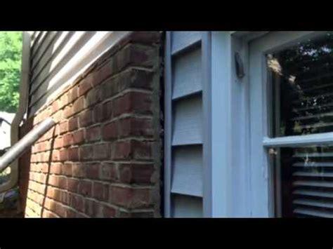bathroom pulling away from wall jsa brick veneer wall pulling away youtube