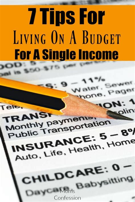 7 Tips For Budgeting Your Finances by 7 Tips For Living On A Budget For A Single Income