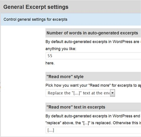 wordpress excerpt layout suffusion theme options layouts excerpt general settings