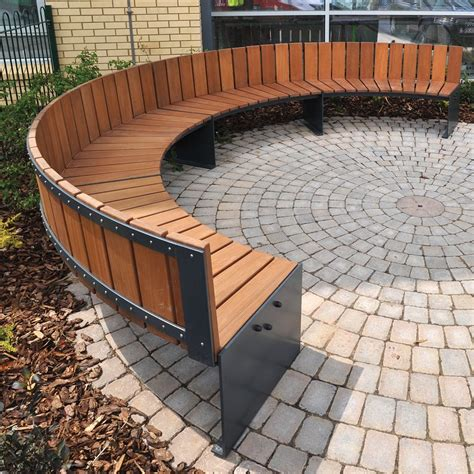 curved outdoor bench curved bench seating elements zitelementen pinterest