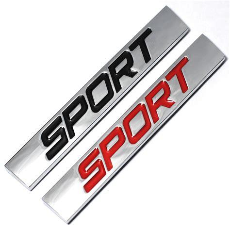 Emblem Sporty 3 black sport logo square bar zinc alloy car styling emblem badge auto refitting 3d sticker