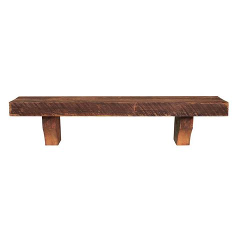 reclaimed wood fireplace mantel shelf pearl mantels 5 ft reclaimed solid pine shelf and corbels