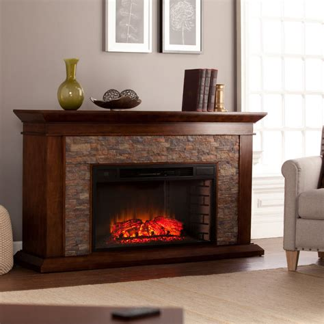 60 quot heights simulated electric fireplace fe9023