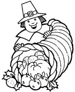 thanksgiving basket coloring page a pligrim gentlemen with thanksgiving day cornucopia