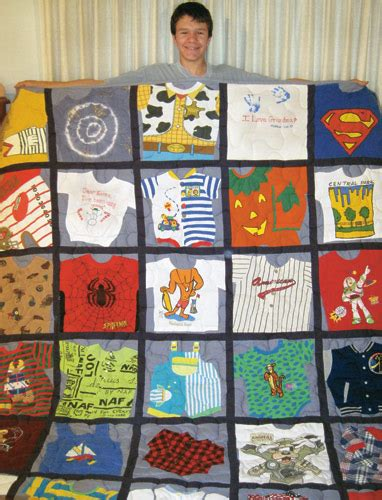 Memory quilt: Put those old baby clothes to good use ? New