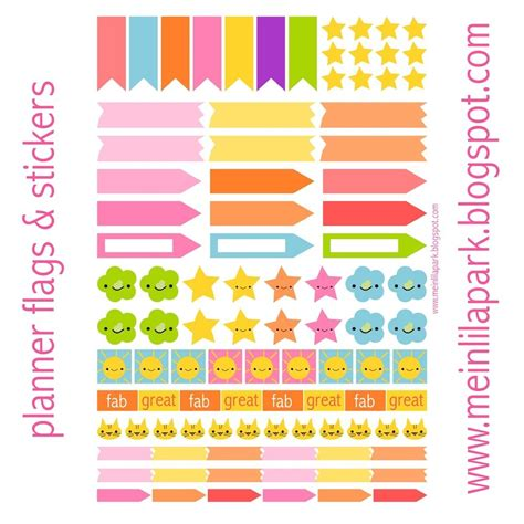 Cute Planner Stickers Free Printable | cute printable planner stickers journalingsage com