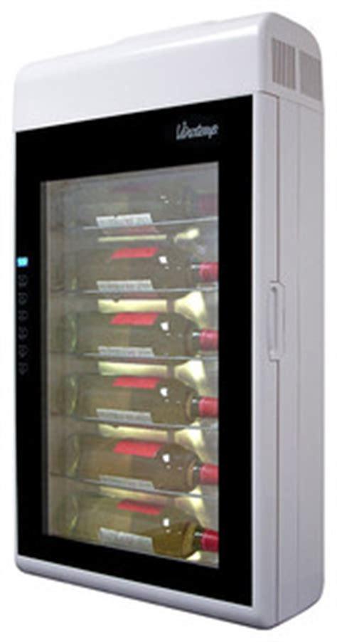 vinotemp  bottle wall mounted wine cooler white modern